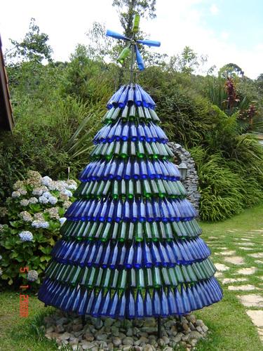 decoracao arvore de natal reciclavel : decoracao arvore de natal reciclavel:Arvore-De-Natal-Garrafa-Pet