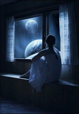 olhando a lua