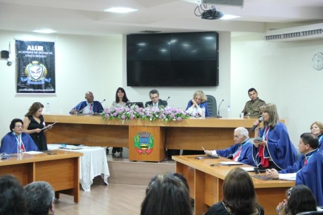 Mesa - Tenente Renato Noronha, Alda A. Barbosa, Dr. Marcos Tadeu, Francisca Peres e Ildeu Pereira